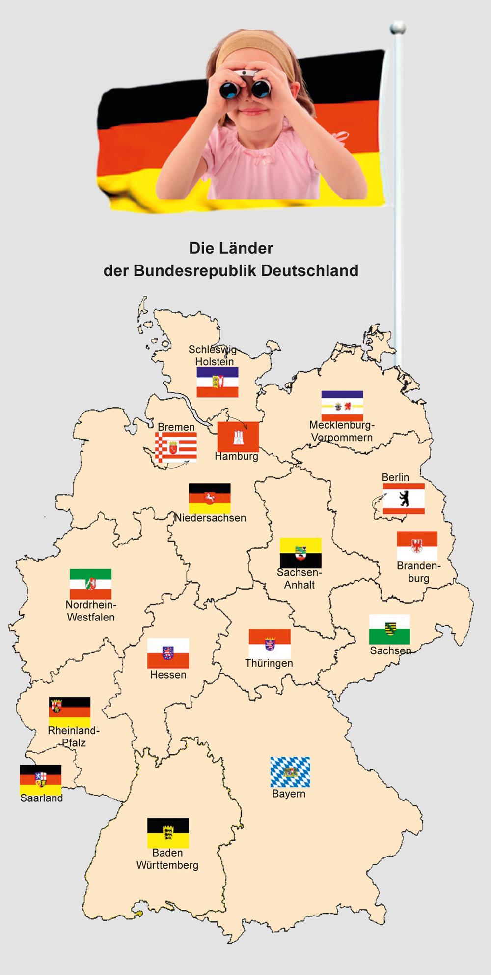 abbildung die l nder der bundesrepublik deutschland. Black Bedroom Furniture Sets. Home Design Ideas